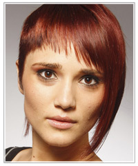Length enhancing red hair color